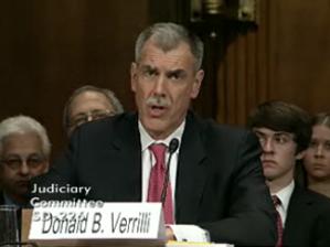 Donald B. Verrilli Jr. - Donald Verrilli at his Senate Judiciary Committee Confirmation Hearing March 30, 2011.