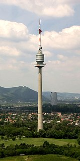Donauturm Opened in April 1964, the tallest free-standing structure in Austria