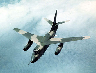 Douglas B-66 Destroyer - Douglas EB-66E Destroyer in flight. Aircraft of the 355th Tactical Fighter Wing, 41st or 42nd TEWS based at Takhli Royal Thai Air Force Base over Southeast Asia on 30 March 1970.