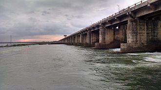 Rajahmundry - Dowleswaram Barrage near Rajamahendravaram on River Godavari