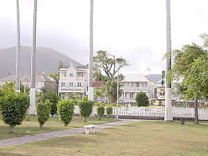 Geography of Saint Kitts and Nevis - Image: Downtown Basseterre, Island of St. Kitts