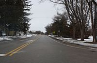 Downtown Dousman Wisconsin County Z Looking West.jpg