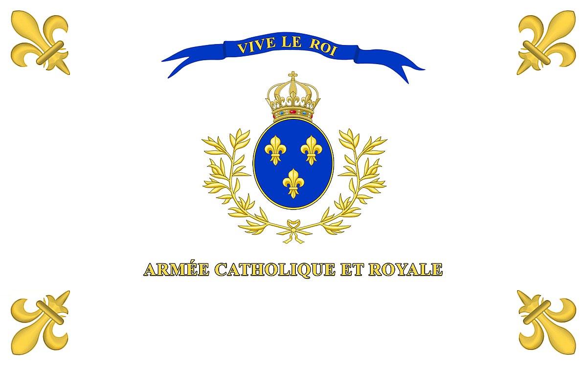 Drapeau de l'Armée catholique et royale de Vendée, dite laGrande Armée