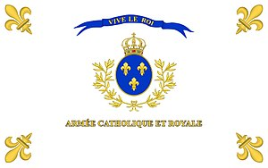 Catholic and Royal Army - Image: Drapeau armée vendéenne 2