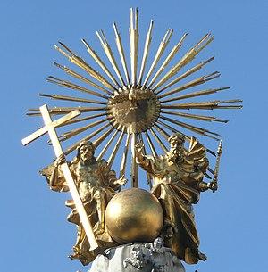 Dreifaltigkeitssäule in Linz - Dreifaltigkeitsgruppe