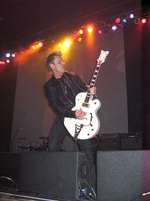 Billy Duffy - Duffy playing his White Gretsch with The Cult in Rochester, New York