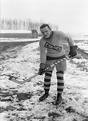 Edmonton Eskimos (ice hockey) - Duke Keats with the Eskimos in the 1921–22 WCHL season.