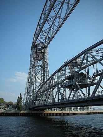 Aerial Lift Bridge - Image: Duluth Lift Aerial Bridge