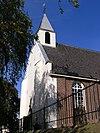 Kerk van Durgerdam. Zaalvormig kerkgebouw met door lisenen gelede zijmuren en een dakruiter, waterstaatskerk