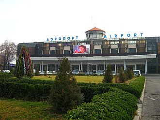 The old terminal building at Dushanbe International Airport Dushanbe Airport (DYU).jpg
