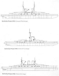 Dutch 1913 battleship proposal
