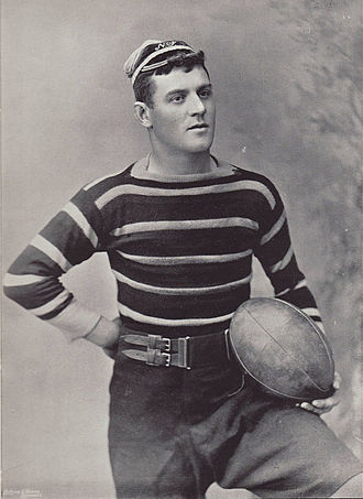 History of Leicester Tigers - E. Redman, Leicester captain in 1895.