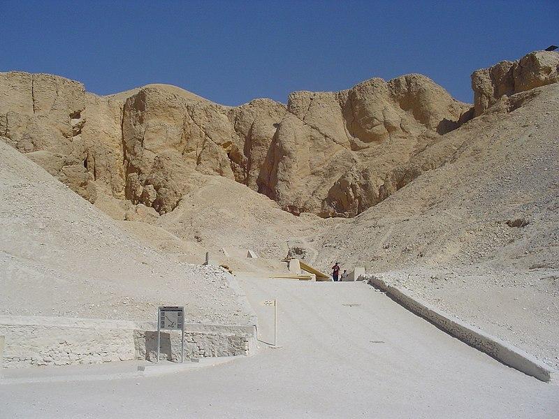 Ruínas antigas no Egito