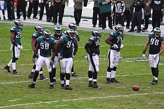 2013 Philadelphia Eagles season - The Philadelphia Eagles defense on the field during the 2013 season.