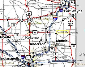 Upland Indiana Map.Hartford City Indiana Wikipedia