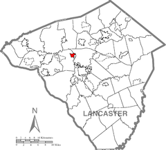 East Petersburg, Lancaster County Highlighted.png