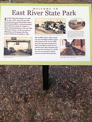 East River State Park - Image: East River State Park Historic Information Board 1