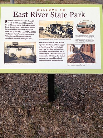 East River State Park - Image: East River State Park Historic Information Board 1