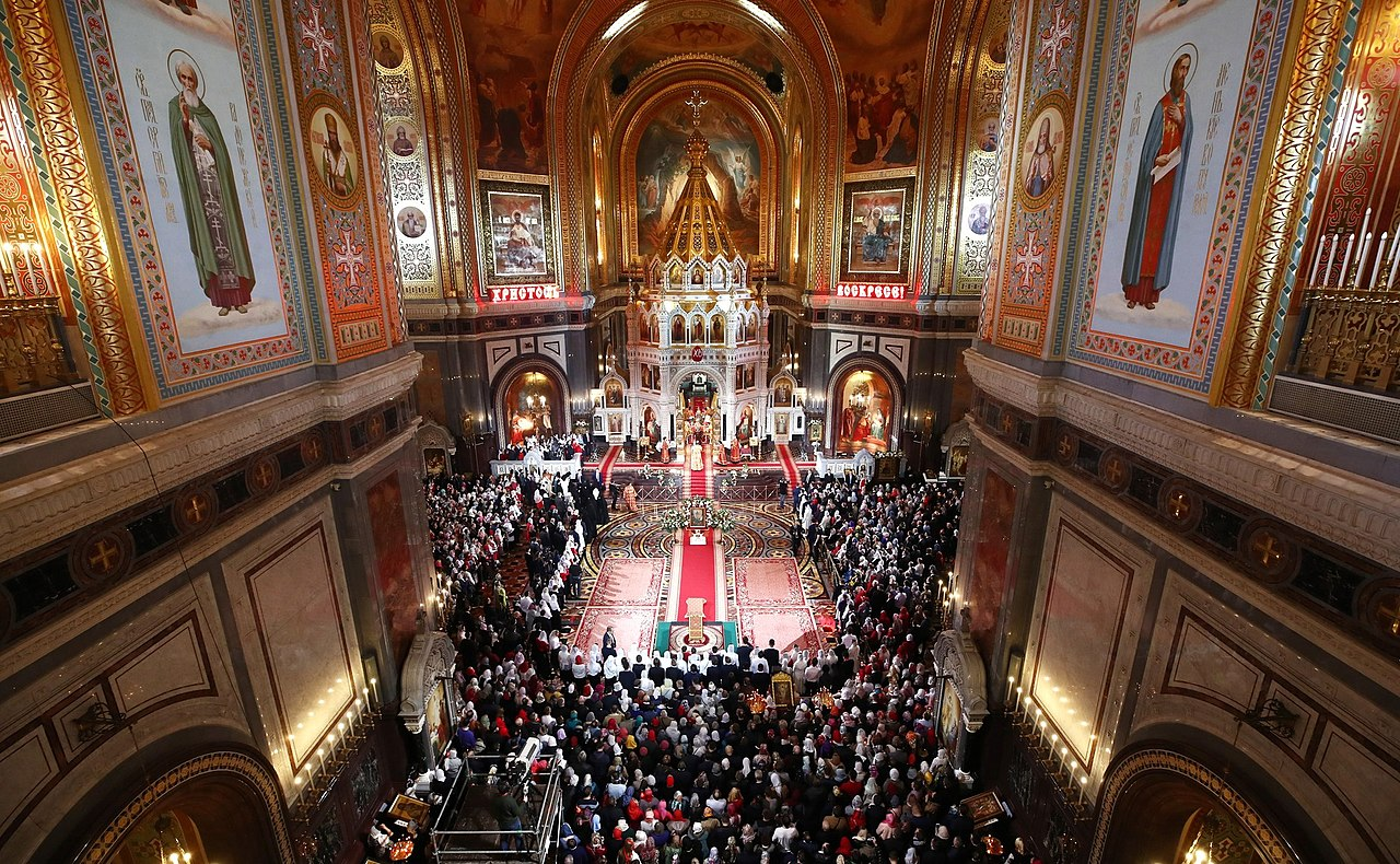 ملفeaster Service In The Cathedral Of Christ The Saviour In