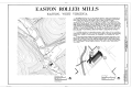 Easton Roller Mill, West Run Road, Morgantown, Monongalia County, WV HAER WVA,31-MORG,2- (sheet 1 of 4).png