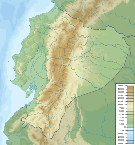 Major volcanoes in Ecuador