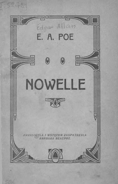 File:Edgar Allan Poe - Nowelle (tłum. Beaupré).djvu