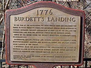 Burdett's Landing - Burdett's Landing plaque