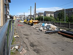 Edinburgh Tramway under construction (geograph 2431025).jpg