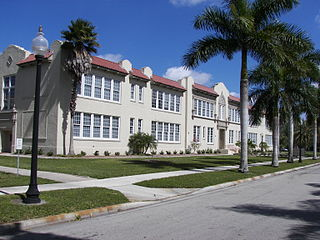 Edison Park Elementary School historic school in Fort Myers, Florida, USA
