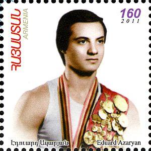 Eduard Azaryan - Image: Eduard Azaryan 2012 Armenia stamp