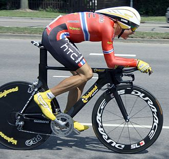 Edvald Boasson Hagen - Boasson Hagen during the prologue of the 2009 Eneco Tour, in the Norwegian National Time Trial Champion jersey