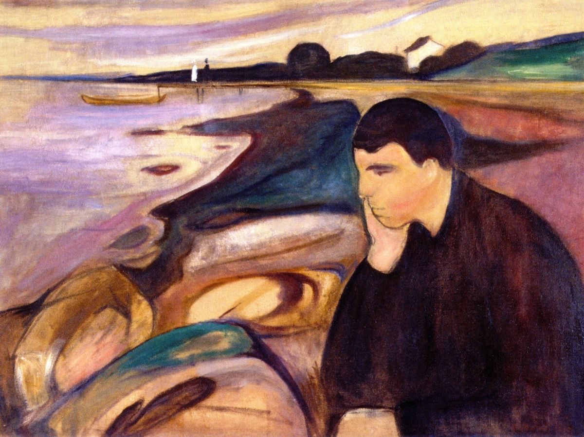 Edvard Munch Melancholy, Climate Fiction | HeadStuff.org