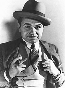 Publicity still of Romanian-born Edward G. Robinson, who starred in several American gangster movies