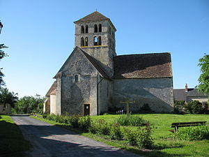 Béard - The church of Saint-Laurent, in Béard