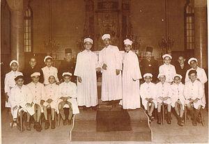 Choir - Egyptian Alexandria Jewish choir of Rabbin Moshe Cohen at Samuel Menashe synagogue, Alexandria, Egypt
