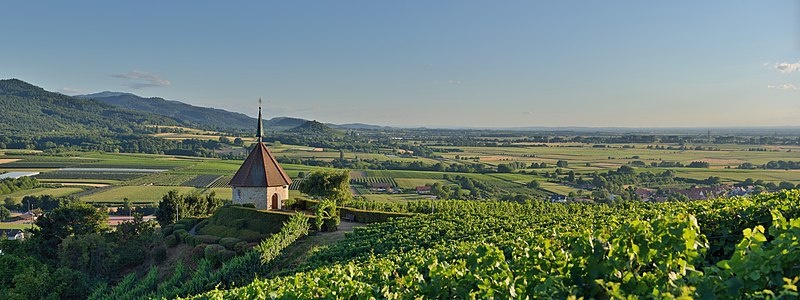File:Ehrenstetten - Ölbergkapelle6.jpg  - Small, picturesque chapel among the hills of vinyards in either southwestern Germany or northeastern France, depending on which unreliable image-description you believe.