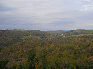 Eidson, Tennessee - Eidson as seen from Clinch Mountain