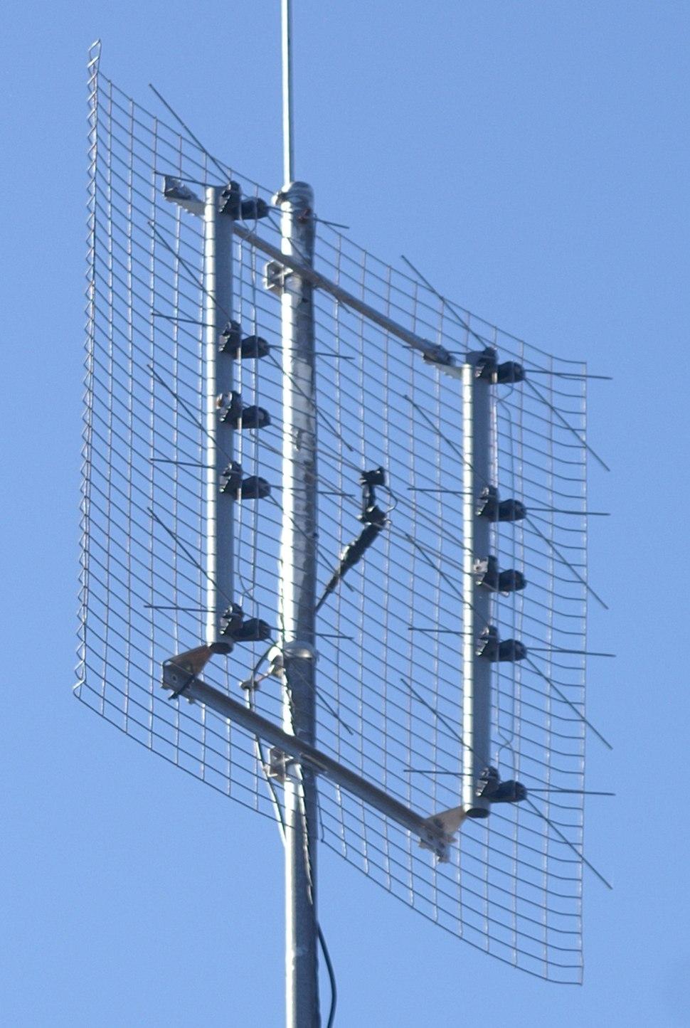 Eight bay bowtie TV antenna
