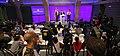 El president Puigdemont amb el conseller d'Interior i el major dels Mossos a la compareixença informativa 01.jpg