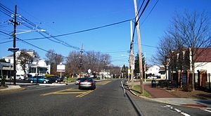 Eldridge Park, New Jersey - At the intersection of US 206 and Marlboro Road
