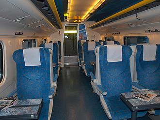 ČD Class 680 - View of the Second Class interior