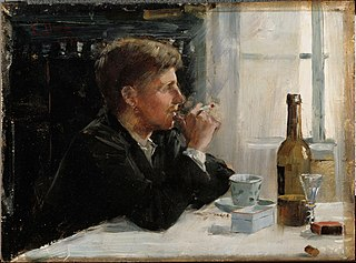 Seated Man at the Table