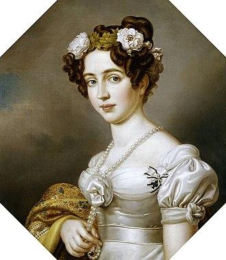 Elisabeth Ludovika of Bavaria - Portrait by Joseph Stieler, 1843