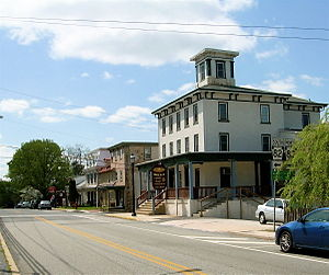 Elverson, Pennsylvania - Intersection of Main Street (Rt. 23) and Chestnut Street (Rt. 82)