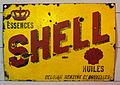Enamel advertising sign, Shell, Belgian benzine Cy Bruxelles.JPG
