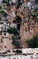 Entrance to Dawa Puk, Padmasambhava's cave, Yerpa 1993.jpg