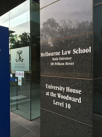 Melbourne Law School - The entrance to Melbourne Law School