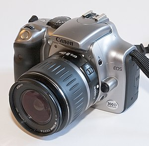 Digital Rebel 300D SLR camera