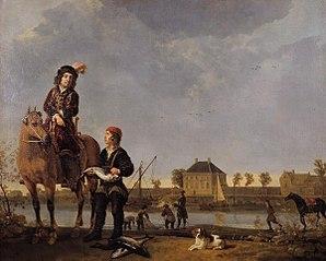 Equestrian Portrait de Pieter de Roovere