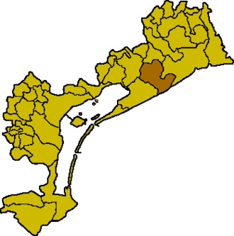 Eraclea - Location of Eraclea in the province of Venice.